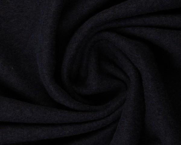 gekochte Wolle - Wollstoff - dunkelblau