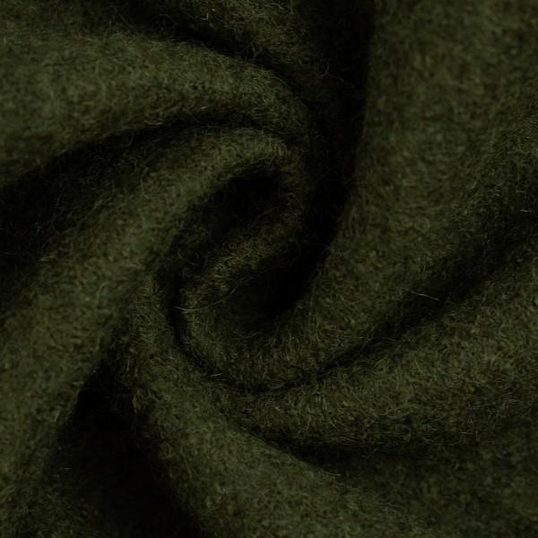 gekochte Wolle - Wollstoff - Walk - Naomi - oliv