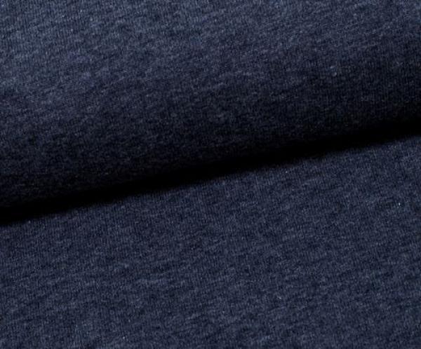 Jersey Uni -- Vanessa - dunkelblau - melliert - 1598