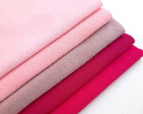Bündchen - Paket - rosa / pink - 5x 20 cm