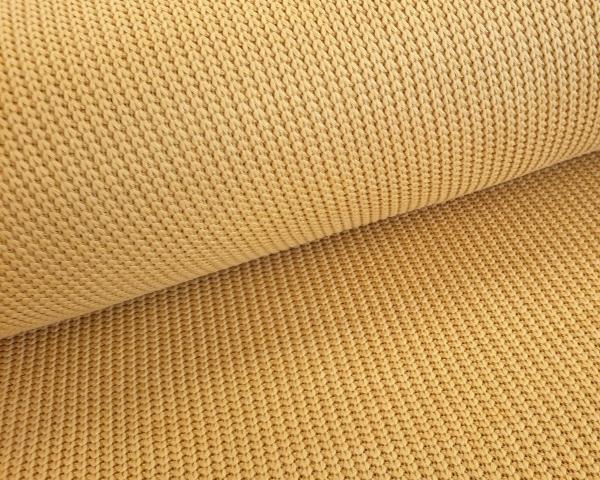 Baumwollstrick - Strickstoff - Grobstrick - gelb