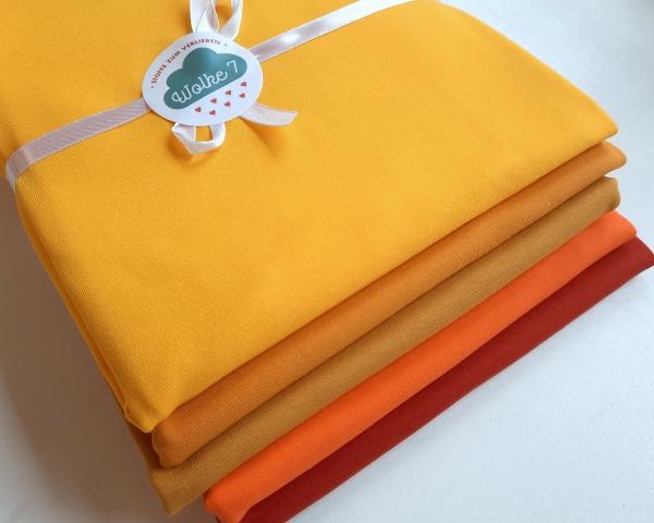 Jersey - Paket - gelb  - 5x 50 cm