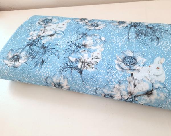 Lillestoff - Winterwelt - türkisblau - Bio Summersweat