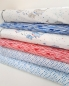 Preview: Jersey - Ocean Breeze - Wellen - aquarell - weiss - rot