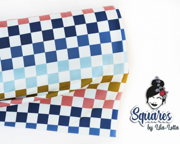 Sommersweat - French Terry - Squares - by Lila Lotta